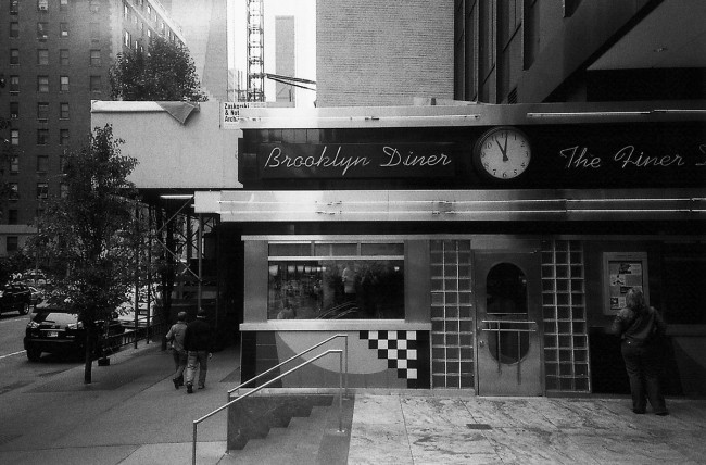 Black and white diner