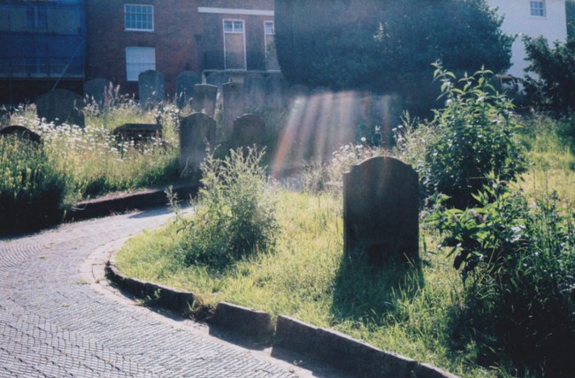 Light leak over grave